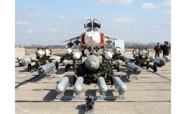 Су-24 с арсеналом вооружения