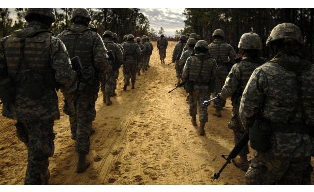 Военные на задании - обои