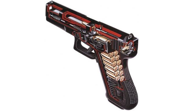 Glock 17 в разрезе