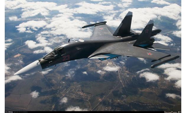 Су-34. Фронтовой бомбардировщик.
